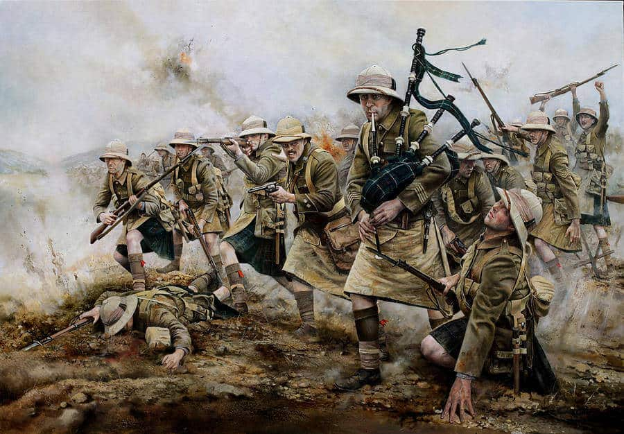 The battle of Achi Baba 1915, by Chris Collingwood