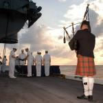 Why are bagpipes played at police funerals