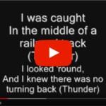 Thunderstruck Bagpipes Lyrics