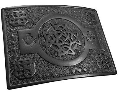 AAR Scottish Highland KILT BELT BUCKLE Celtic Knot T Work Black Finish